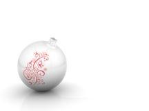 Bille de Noël avec l'enroulement Photographie stock