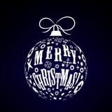 Bille de Noël blanc Image libre de droits