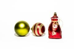 Bille de Noël d'isolement sur le fond blanc Photo stock