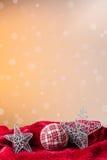 Bille de Noël et étoiles argentées Photographie stock