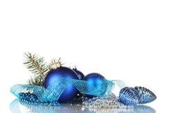 Bille de Noël et arbre vert Photographie stock