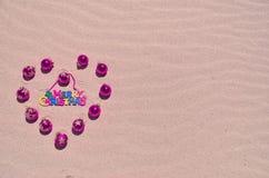 Bille de Noël sur la plage Photos libres de droits