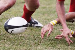Bille de rugby. Photos stock