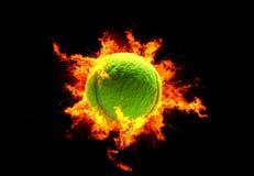 Bille de tennis Photographie stock libre de droits