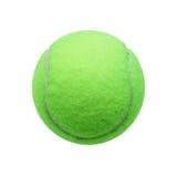 Bille de tennis d'isolement sur le fond blanc Photographie stock libre de droits