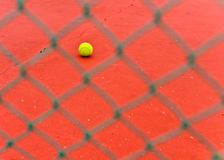 Bille de tennis dans une cour Photo libre de droits