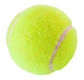 Bille de tennis sur le blanc Photographie stock libre de droits