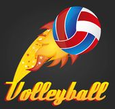 Bille de volleyball Photo stock