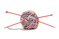 Bille des amorçages pour le tricotage Photographie stock