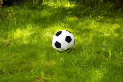 Bille du football de peluche   Photos stock