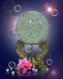 Bille en cristal, orchidées, perles Image libre de droits