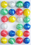Bille en plastique colorée de corde Photographie stock libre de droits