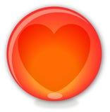 Bille en verre avec le coeur Photographie stock libre de droits