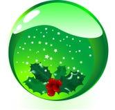 Bille en verre de Noël Images stock