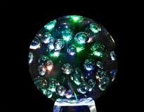 Bille en verre magique mystique de sphère. Photographie stock libre de droits