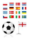 Bille et indicateur du football Image libre de droits