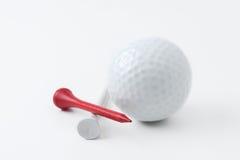 Bille et té de golf photographie stock libre de droits
