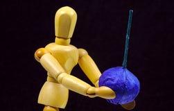 Bille et tés de golf image libre de droits