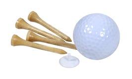 Bille et tés de golf photo libre de droits