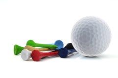 Bille et té de golf Photo stock