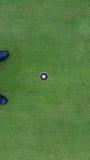 Bille et trou de golf Image libre de droits