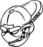 Bille fâchée dans le dessin de chapeau Images libres de droits