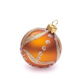 bille orange de Noël Image libre de droits