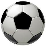 Bille ou football de football noire et blanche Photographie stock