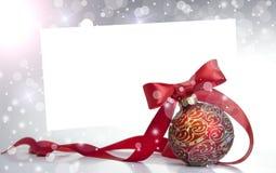 Bille rouge de Noël Photographie stock