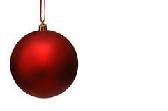 Bille rouge de Noël avec la bande rouge Photo libre de droits