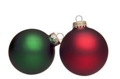 Bille rouge et verte de Noël sur le blanc Image stock