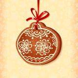 Bille traditionnelle fleurie de bonbon à Noël Photographie stock libre de droits