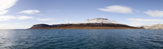Billefjorden panorama, Svalbard, Norway Royalty Free Stock Image