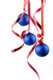 Billes bleues - décoration de Noël Photo libre de droits