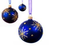 Billes bleues de Noël photo libre de droits
