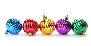 Billes brillantes de Noël Images stock