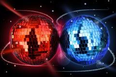 Billes colorées de disco Image libre de droits