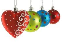 Billes colorées de Noël Photos libres de droits