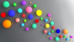 Billes colorées par abstrait Image stock
