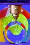 Billes colorées sous pression Image stock
