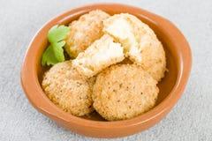 Billes cuites à la friteuse de fromage Image stock