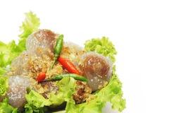 Billes cuites à la vapeur de tapioca avec le remplissage de porc Photo libre de droits