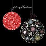 Billes décoratives de Noël Photographie stock