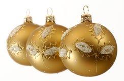 Billes décoratives de Noël Photo libre de droits