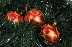 Billes d'arbre de Noël photographie stock
