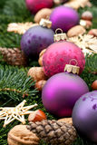 Billes d'arbre de Noël image libre de droits