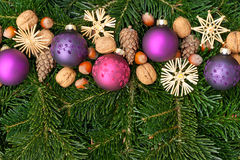 Billes d'arbre de Noël Images stock