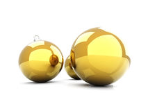 Billes d'or de Noël illustration stock