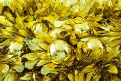 Billes d'or de Noël Images stock