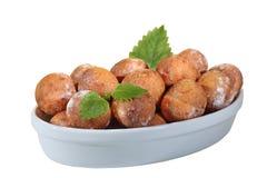 Billes d'isolement de beignets Image libre de droits